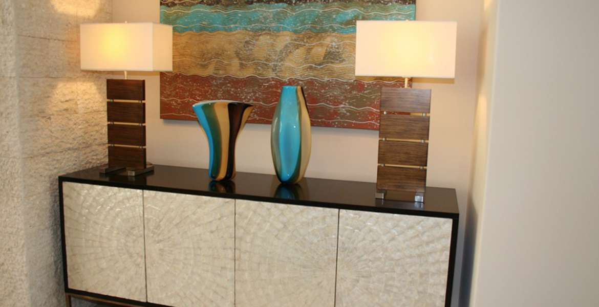 Hideaway console table