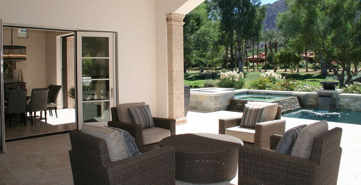 Hideaway outdoor patio furniture