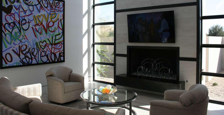 Madison Club media room art