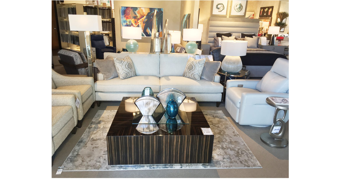 white sectional square coffee table
